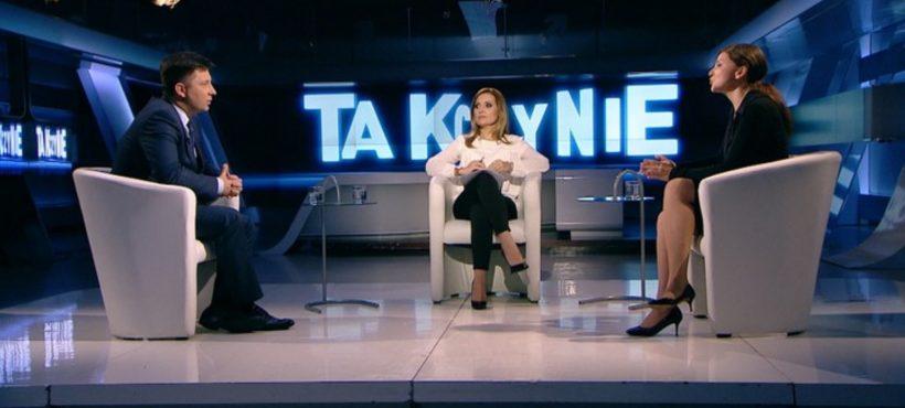 """Dyskusja oPolsce w""""Tak czyNie"""" wPolsat News. Michał Dworczyk iMonika Rosa, 25.10.2016"""