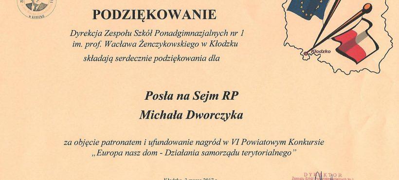 """Powiatowy konkurs """"Europa nasz dom"""" wKłodzku"""