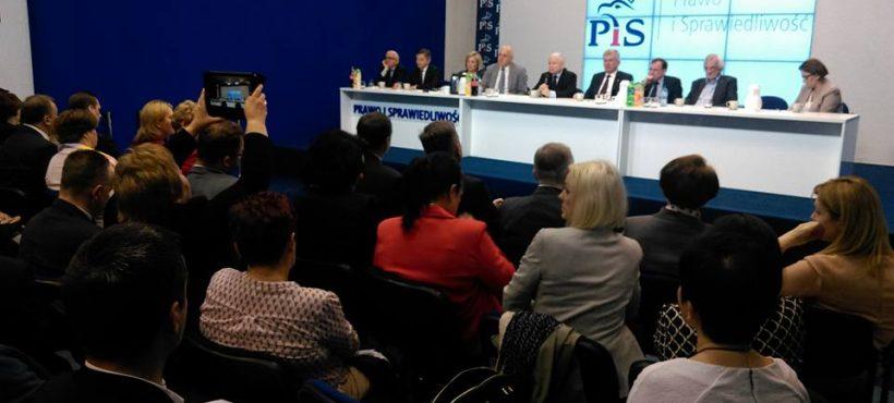Spotkanie kierownictwa partii zWojewódzkimi Zespołami Samorządowymi