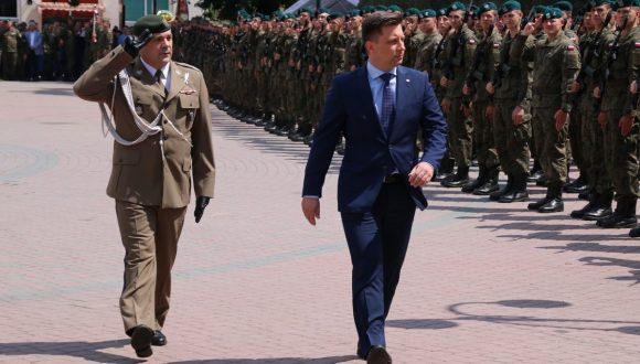 Przysięga żołnierzy WOT wJarosławiu