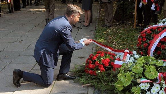 Odsłonięcie pomnika upamiętniającego żołnierzy węgierskich wspierających Powstanie Warszawskie
