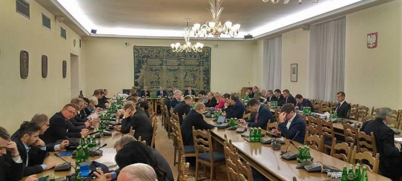 Posiedzenie Komisji Obrony Narodowej iKomisji Samorządu ws. strzelnic wkażdym powiecie